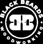 Black Beard Woodworking - White Logo